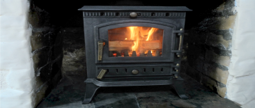 welcome home to a roaring fire